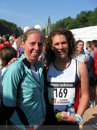Heidi et Carine après l'effort