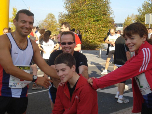 Sébastien, David,Sandrine et Thibaut (au milieu!)