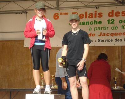 Le podium de Sandrine et Thibaut