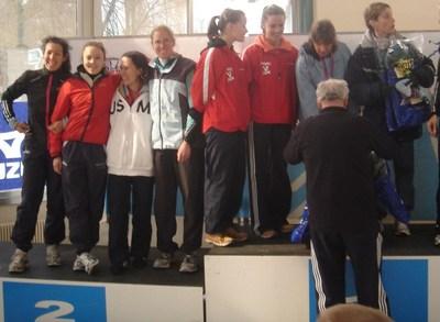 Brigitte, Marie-Caroline, Maria et Heidi sur le podium féminin