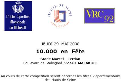 Une soirée consacrée au 10 000 m sur piste à Malakoff