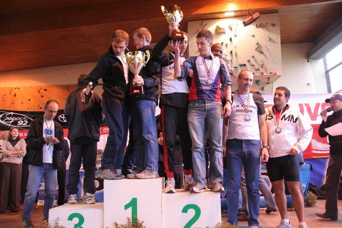 Le podium par équipe masculin