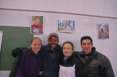 Heidi, Serge Marie-Caroline & Alain à Chatenay. Photo Serge MILON.