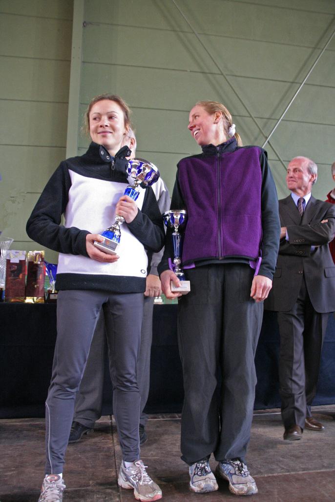 Marie-Caroline SAVELIEFF & Heidi FREYTAG. 1° et  2° des 15km de Chatenay 2009.