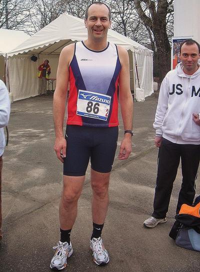 Fabrice Delabarre en route vers son 10km en 40'37