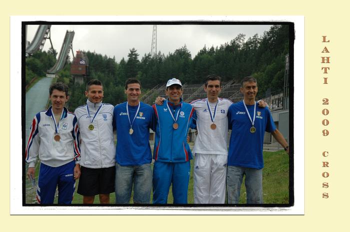 Le podium avec les italiens