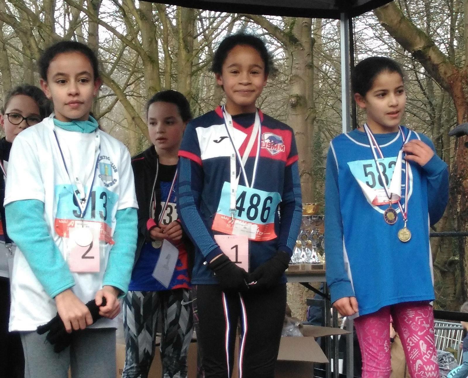 Mélissa REDAIS championne départementale poussine de cross