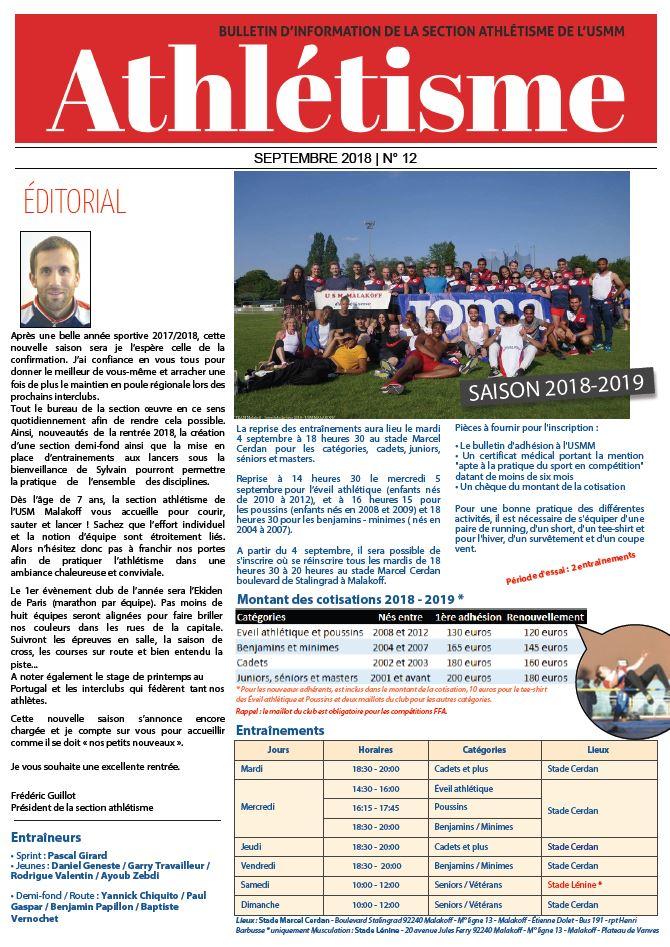 Bulletin numéro 12